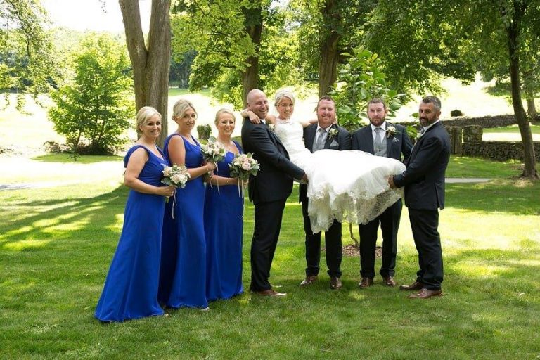 Sinead Power wedding July 2018 with brides maids
